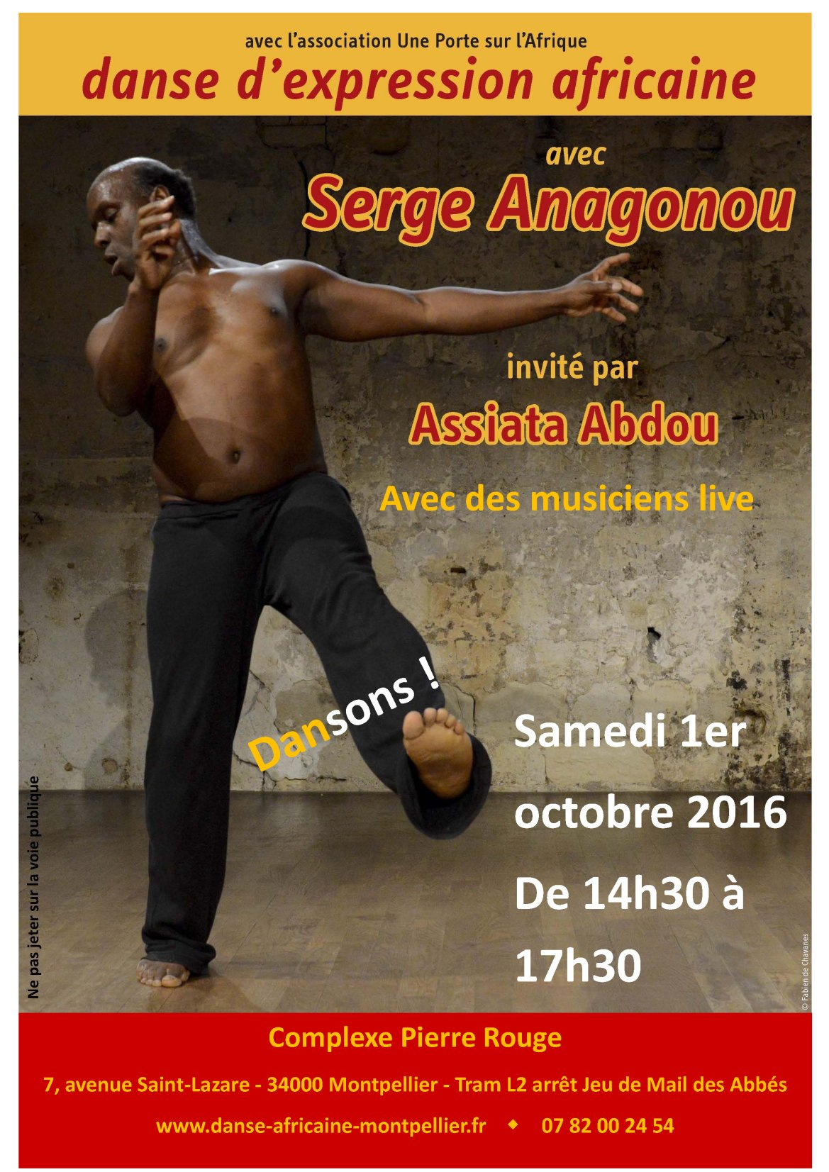 Stage Serge Anagonou oct 16