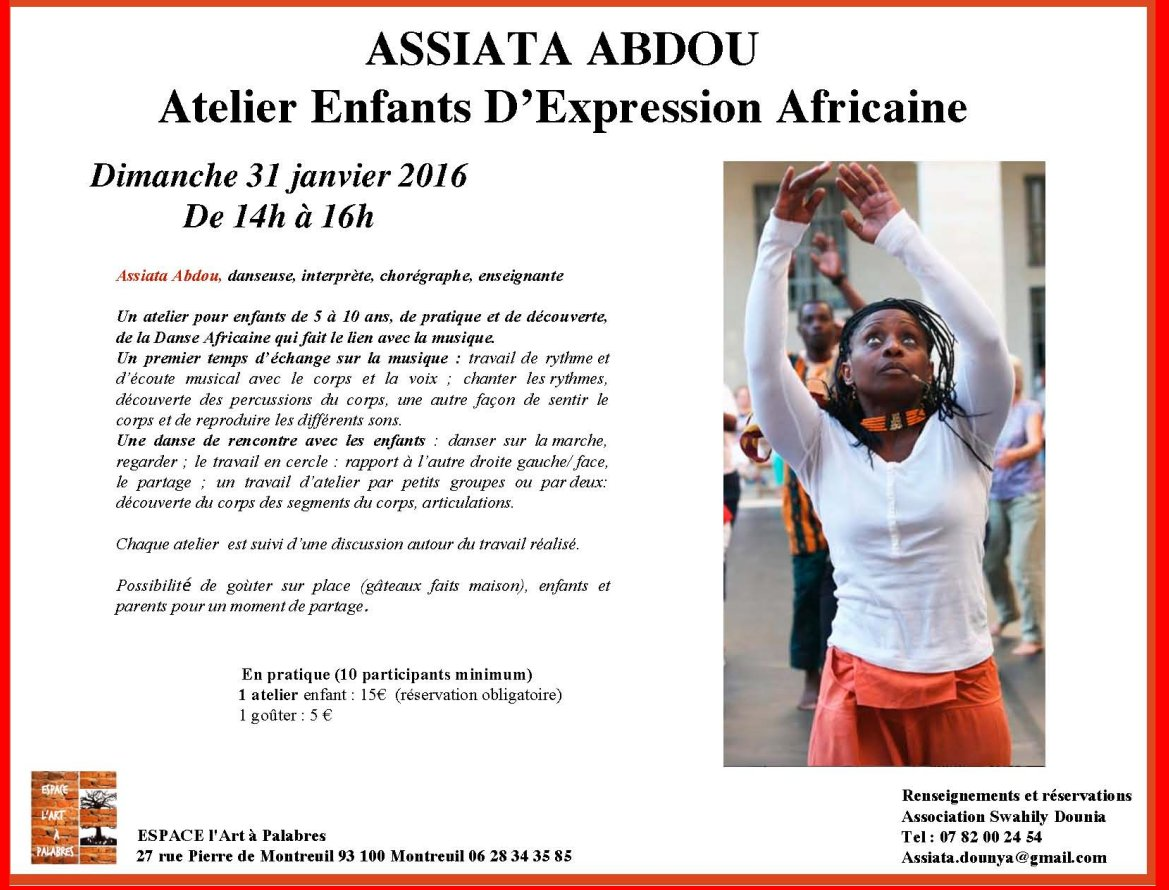 atelier enfants Paris Assiata 31jan16