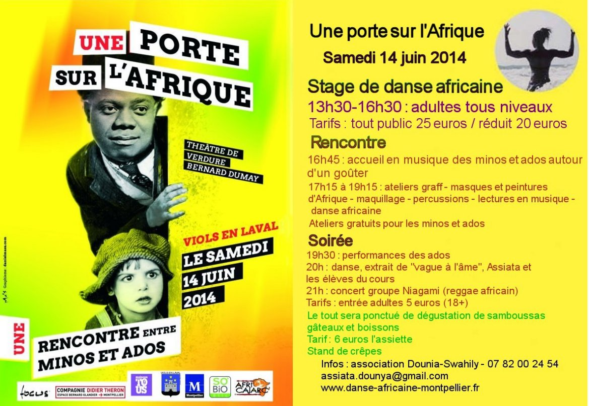 flyer stages danse africaine juin14